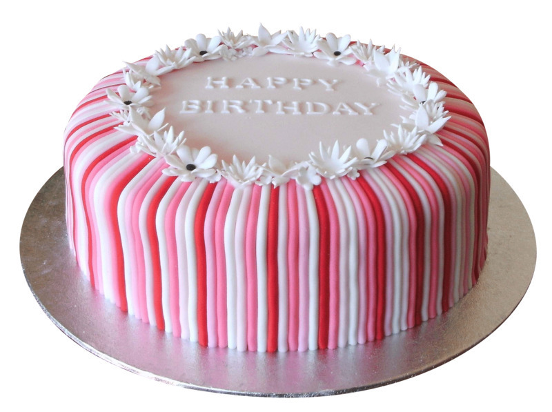 Pink And White Cake With Best Compliments